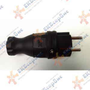PKR01-016-2-K02 IEK Вилка прямая каучуковая Омега 16А 250В 2P+PE IP44